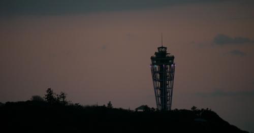江の島の夕焼け3