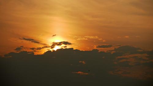 鵠沼海岸の夕焼け2