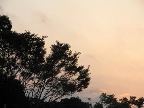 9日の夕焼け2