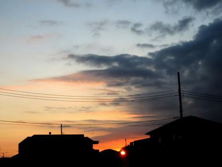 9日の夕焼け