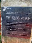 箱根神社の立て札