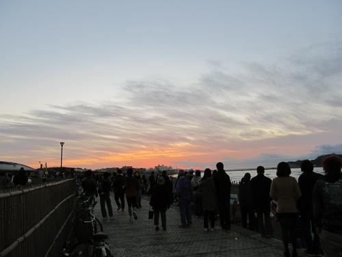 鵠沼海岸の夜明け2