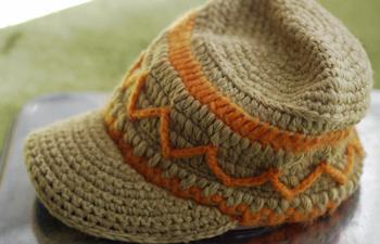 散歩用の帽子