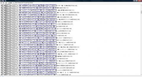 H22 9.2 天鳳8月32戦連続トップ無し(画面は31戦まで)