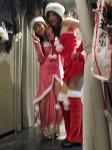 サンタドレスを着て・・・