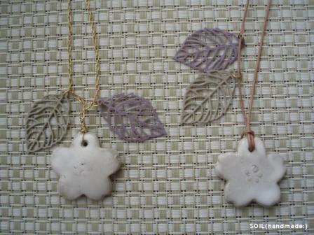 陶器お花ネックレス③
