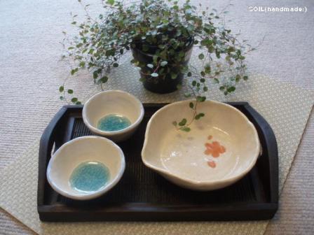 夏の白いお皿たち