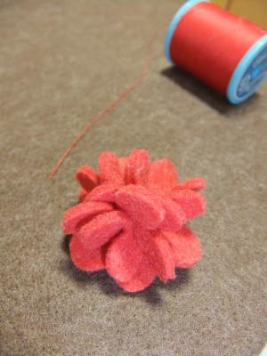 お花ブローチミニストロベリーa