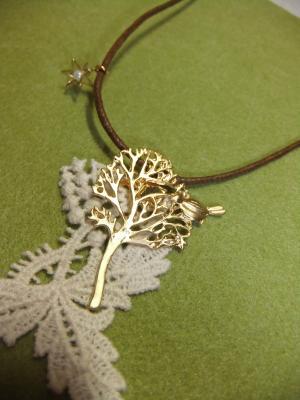 樹と小鳥のナチュラルネックレス4a