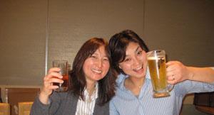 えっくんママと乾杯!