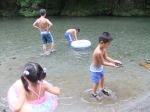 川あそび♪