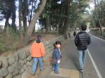 参道を歩く