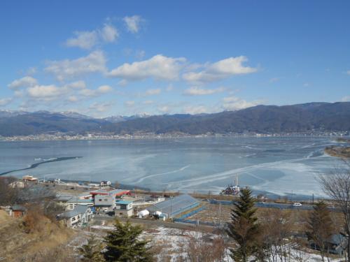 ⑯凍結諏訪湖