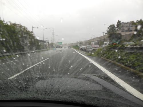 ④雨中走行1