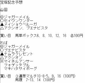 10宝塚予想2