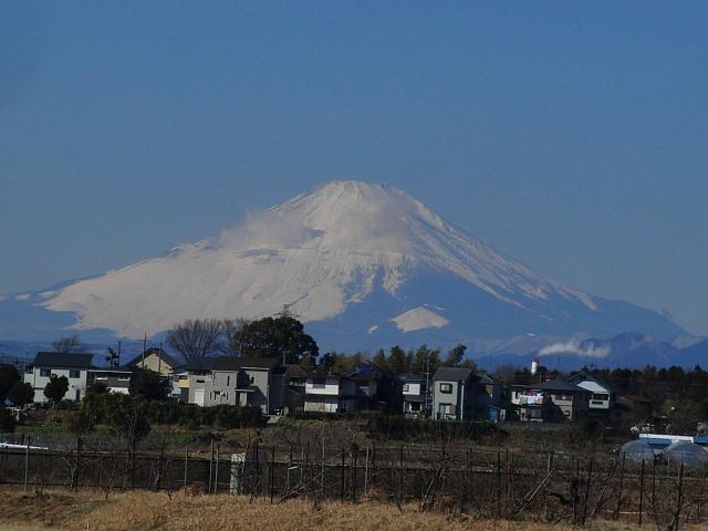 富士山:クリックして大きな画像で御覧下さい
