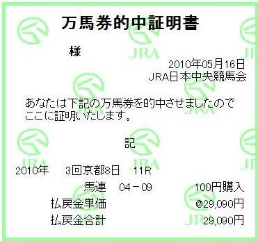 20100516京都11R的中