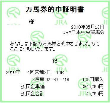 20100523京都10R的中