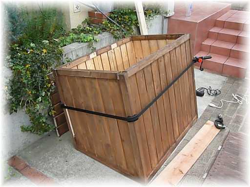 20121110屋外ゴミ箱修理