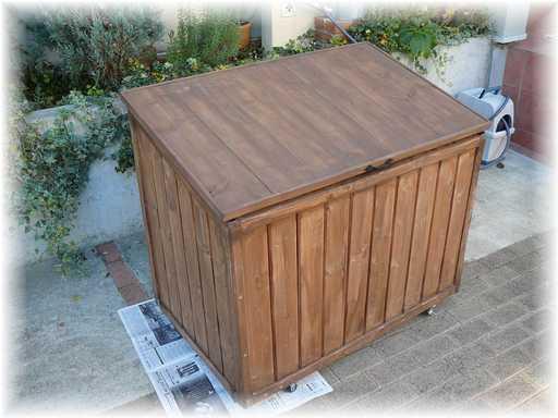 20121125屋外ゴミ箱修理A