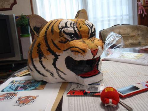 虎の張りぼて完成