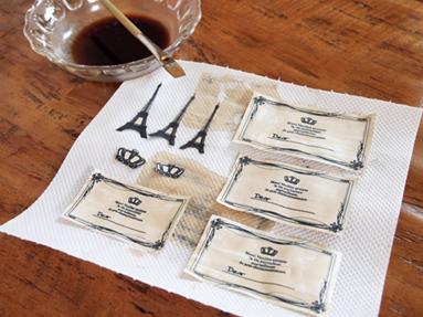 コーヒー染めに挑戦!
