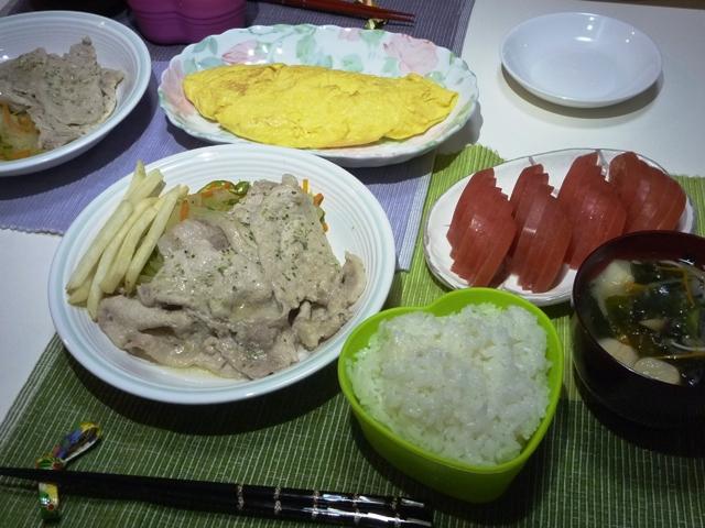 20110615 本日の「なかじま家の食卓」