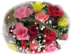 バラ花カゴ