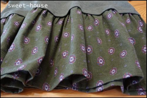 プルオーバーワンピ ヒラヒラ