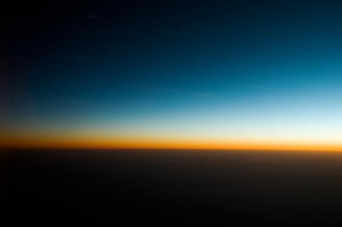 飛行機から見た綺麗な景色001