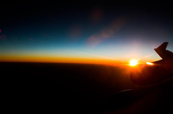 飛行機から見た綺麗な景色002