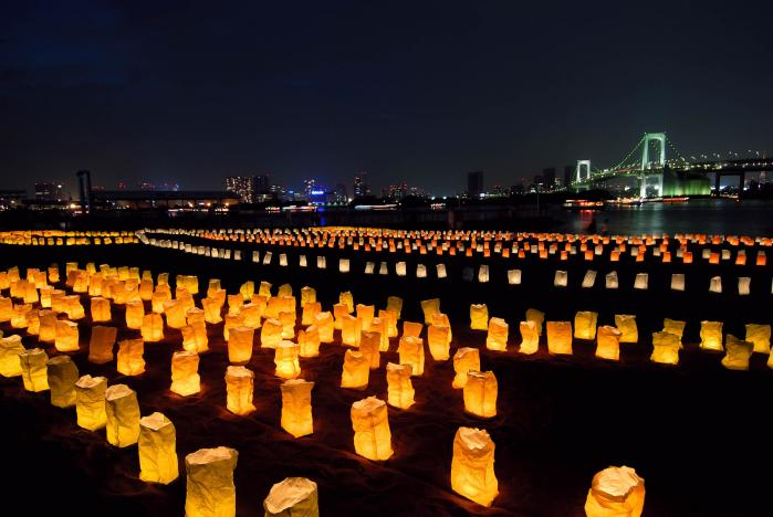 レインボーブリッチの夜景・海の灯りまつり002