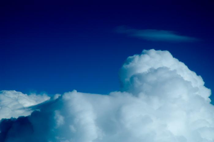 飛行機から見る雲海003
