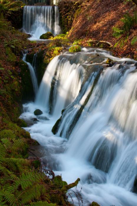 水の流れをスローシャッターで・滝001
