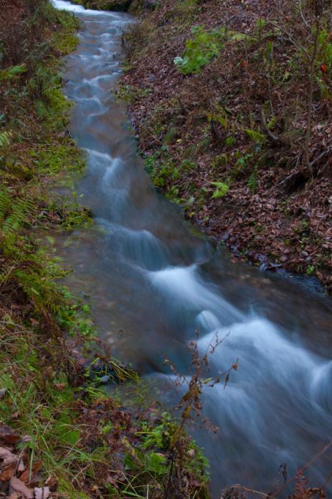 水の流れをスローシャッターで・滝002