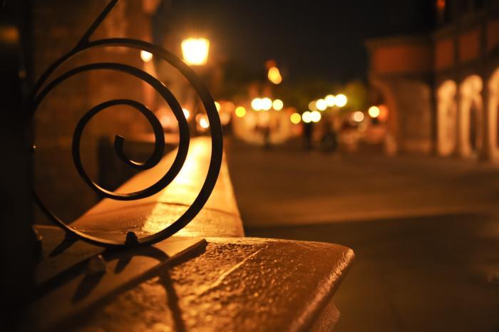 幻想的なディズニーシーランドの夜景