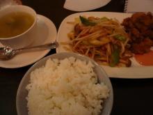 チキン竜田と7品目野菜炒め