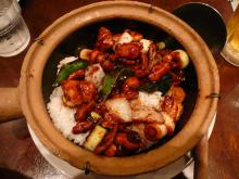 鶏根菜甘味噌土鍋飯