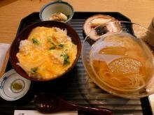 鱧玉〆丼(小)と冬瓜素麺