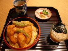 鱧カツ玉〆丼と薬味素麺
