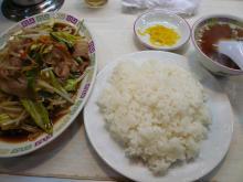 肉野菜炒め(ライス付)