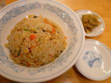 野菜チャーハン(と餃子)