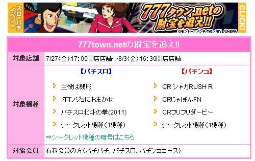 777タウン.netの財宝を追え!!イベント