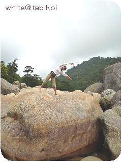 200910屋久島岩の上