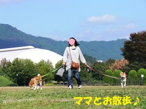 ママとお散歩