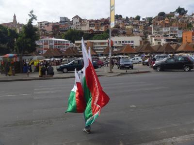 国旗売り マダガスカル