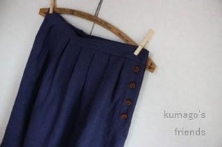 リネンのロングスカート2