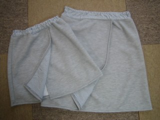 ニット巻きスカート