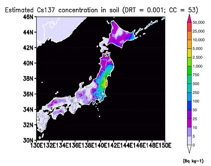 放射性物質積算推定図1