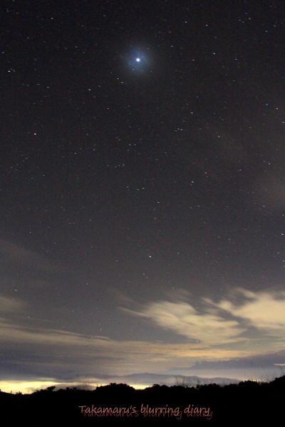 ガスが出始めて、星が少しぼやけてしまいました
